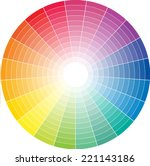 color wheel with the transition ...