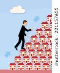 a businessman's increasing...   Shutterstock .eps vector #221157655