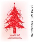 abstract christmas tree | Shutterstock .eps vector #22115791