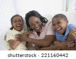 african american mother and... | Shutterstock . vector #221160442