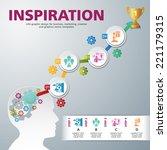 template modern info graphic...   Shutterstock .eps vector #221179315