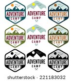 set of vintage labels adventure ... | Shutterstock .eps vector #221183032