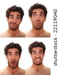young man with multiple face... | Shutterstock . vector #22119040