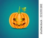 halloween pumpkin head | Shutterstock .eps vector #221201182