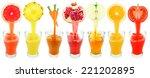 fresh juices | Shutterstock . vector #221202895