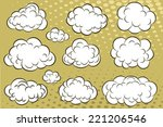 comic book clouds | Shutterstock .eps vector #221206546