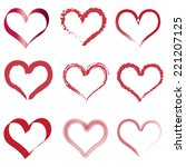 vector silhouette of heart on... | Shutterstock .eps vector #221207125
