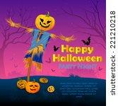 vector illustration of scary... | Shutterstock .eps vector #221210218