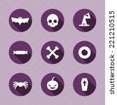 vector set. halloween icons.... | Shutterstock .eps vector #221210515