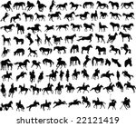 100 vector silhouettes of...   Shutterstock .eps vector #22121419