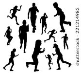 vector silhouette of people who ... | Shutterstock .eps vector #221214982