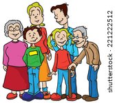 family cartoon illustration | Shutterstock .eps vector #221222512
