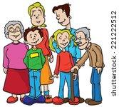 family cartoon illustration | Shutterstock .eps vector #221222512