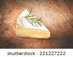 piece smelly camembert cheese... | Shutterstock . vector #221227222