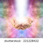 angelic healing energy     ... | Shutterstock . vector #221228422