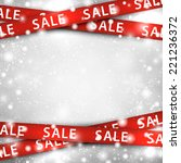winter background with red sale ... | Shutterstock .eps vector #221236372