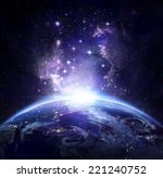 earth view from space at night  ... | Shutterstock . vector #221240752