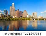 view of austin  texas downtown... | Shutterstock . vector #221247355