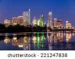 beautiful austin skyline... | Shutterstock . vector #221247838
