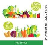 vegetables vector illustration | Shutterstock .eps vector #221254798