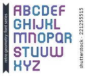 double line geometric font ... | Shutterstock .eps vector #221255515