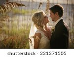 cheerful married couple | Shutterstock . vector #221271505