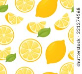 seamless lemon pattern. | Shutterstock .eps vector #221274568