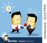 vector of fingerprint man... | Shutterstock .eps vector #221277955