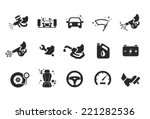car care icons   illustration | Shutterstock .eps vector #221282536