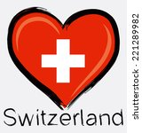 love switzerland grunge flag | Shutterstock .eps vector #221289982