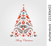 stylized design christmas tree | Shutterstock .eps vector #221306422