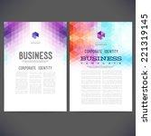 abstract vector template design ... | Shutterstock .eps vector #221319145