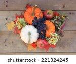 autumn and thanksgiving concept.... | Shutterstock . vector #221324245
