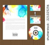 vector corporate identity... | Shutterstock .eps vector #221325256