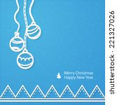 lacy vector paper christmas... | Shutterstock .eps vector #221327026