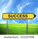 conceptual arrow sign against... | Shutterstock . vector #221327908