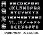 alphabet  numbers  currency and ... | Shutterstock .eps vector #221330686