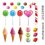sweets set | Shutterstock .eps vector #22133908