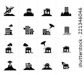 natural disaster icon set | Shutterstock .eps vector #221346046