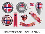 made in norway seal  norwegian... | Shutterstock .eps vector #221352022