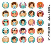 doctors cartoon characters... | Shutterstock .eps vector #221358082