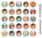 doctors cartoon characters... | Shutterstock .eps vector #221358082