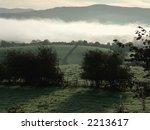 early morning valley fog near... | Shutterstock . vector #2213617