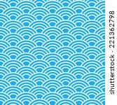 seamless  abstract wave pattern   Shutterstock .eps vector #221362798