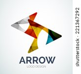 abstract arrow logo design made ... | Shutterstock .eps vector #221367292