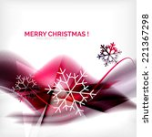 purple color christmas blurred... | Shutterstock .eps vector #221367298