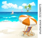 summer beach   Shutterstock . vector #221368072