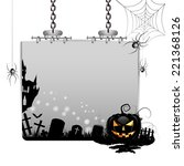 banner for halloween with... | Shutterstock . vector #221368126