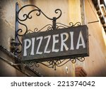 Vintage Pizzeria Sign In Venic...