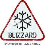 blizzard warning traffic sign ... | Shutterstock .eps vector #221375812